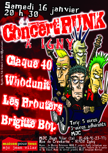 tract concert à la MJC d'IGNY